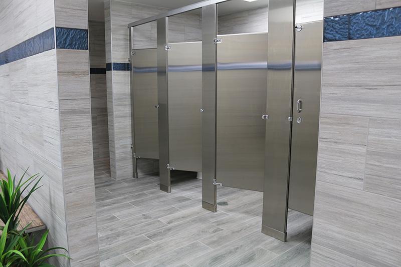 Marina Facilities: Women's Restroom Stalls